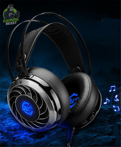 Wired Bass Wired Microphone Computer Gaming Glitter Headphone