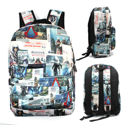 Hip Hop Punk Style Assassin's Creed Anime Backpack