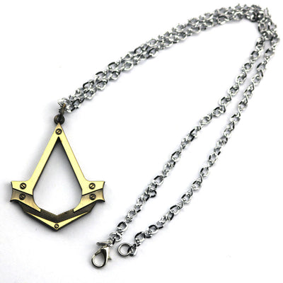Limited Edition Assassin's Creed Black Flag Vintage Alloy Ring Necklace Set