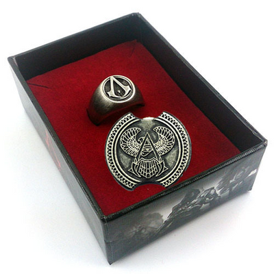 Limited Edition Assassin's Creed Origins Badge Brooch Ring Two-piece