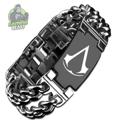 Limited Edition Assassin's Creed Titanium Steel Carbon Fiber Bracelet