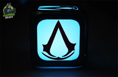 Assassin's Creed Fashion Creativity LED Lamp Alarm Clock