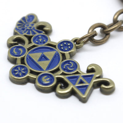 Limited Edition The Legend of Zelda Breath of The Wild Alloy Keychain Pendant Necklace Set