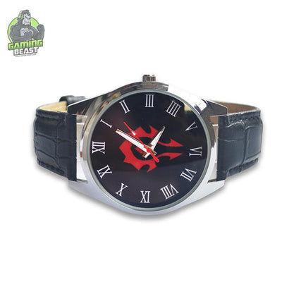 World of Warcraft Sign Waterproof Leather Watch