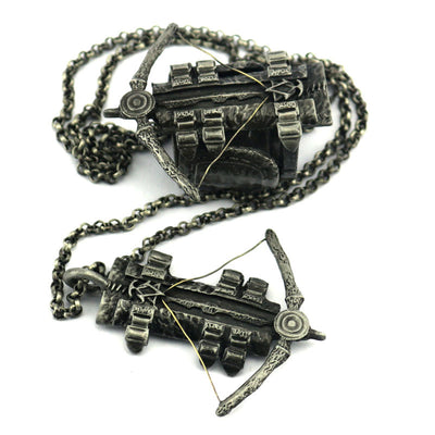 Limited Edition - Assassin's Creed Crossbow Necklace/Ring Set