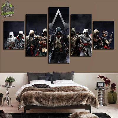 Limited Edition Assassin's Creed Abstract Decorative Oil Painting