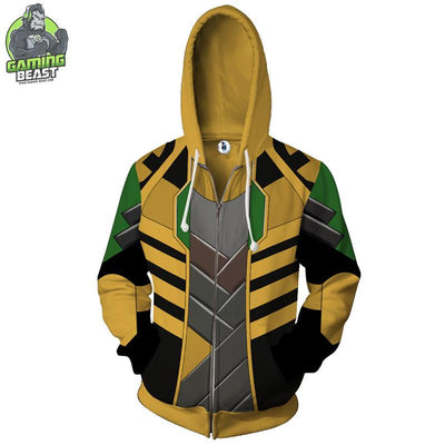 World of Warcraft Alliance Personality Printed Zipper Hoodie