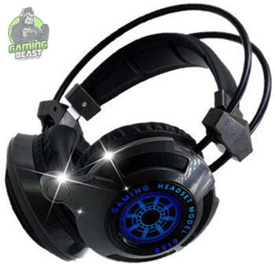 Wired Glitter Bass Computer Gaming Headphone with Microphone