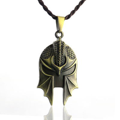 New Assassin's Creed Odyssey Sparta Warrior Mask Pendant Necklace
