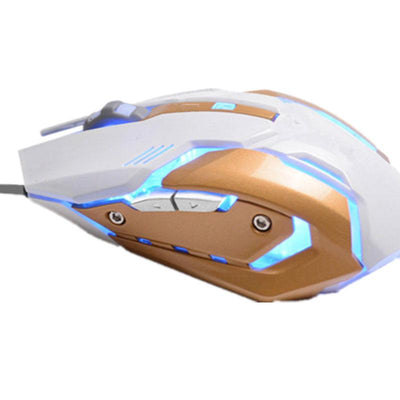 USB Gaming Ajustable Mouse with Breathing Variable Lights