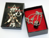 Copy of Assassin Creed Origin Eden Apple Fragment Ring Connor Pendant Necklace  Set