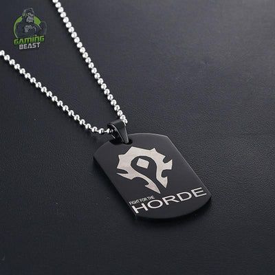 World of Warcraft Sign Titanium Steel Alloy Necklace