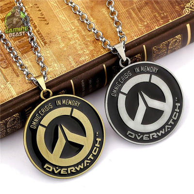 Limited Edition Overwatch Badge Alloy Necklace