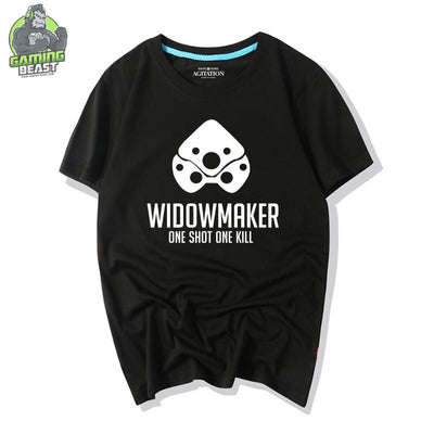 Overwatch Game Blizzard Tribal Pattern Widowmaker T-shirt
