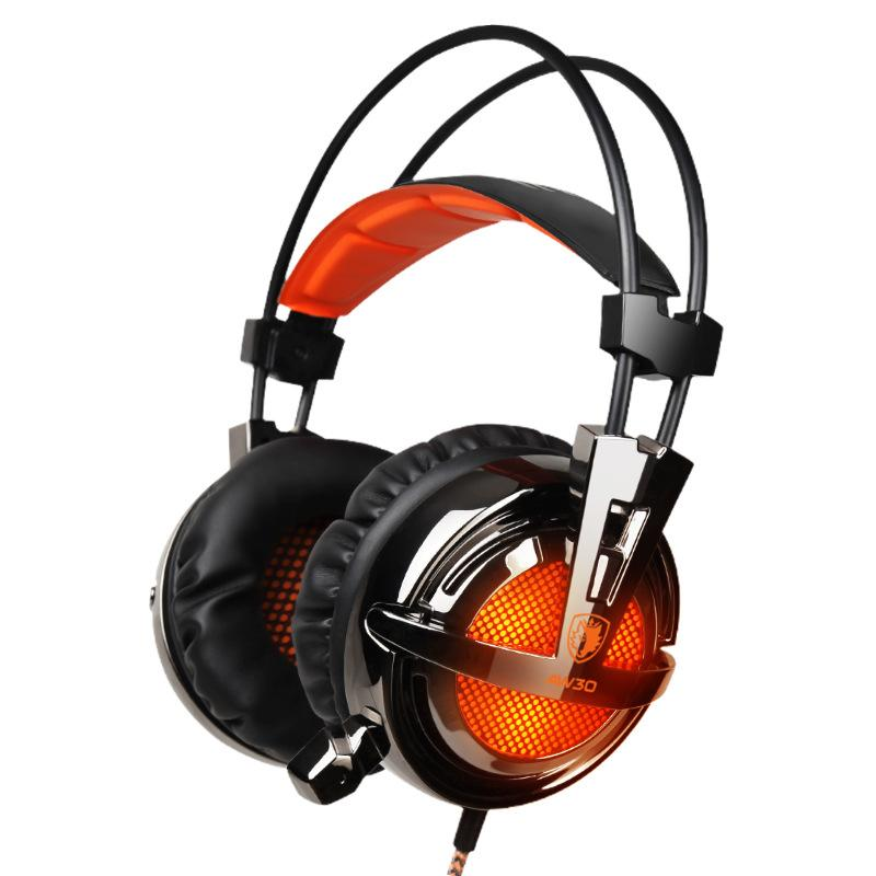 USB Stereo Bass LED Light Gaming Headset