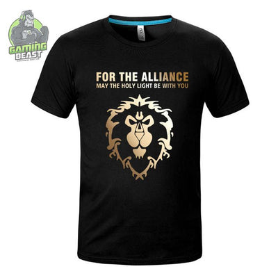 World of Warcraft Tribal Alliance Printing T-shirt