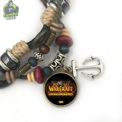 Limited Edition World of Warcraft Alloy Retro Leather Bracelet