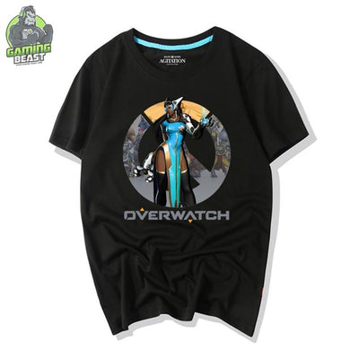 Overwatch Game Blizzard Tribal Pattern Symmetra T-shirt