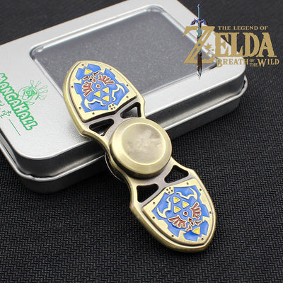 Legend of Zelda Shield Alloy Fingertip Gyro Decompression Toy