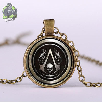 Assassin's Creed Fashion Glass Gem Pendant