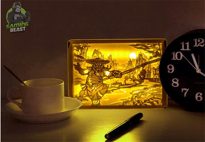 World of Warcraft Panda Man Stereoscopic Night Light