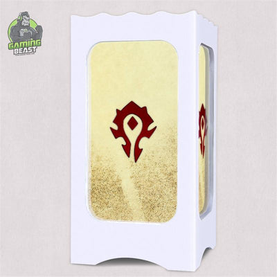 World of Warcraft Alliance Tribe USB Carved LED Table Lamp