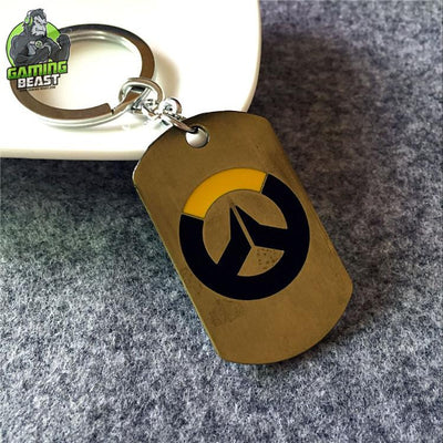 Limited Edition Overwatch Sign Titanium Steel Key Ring