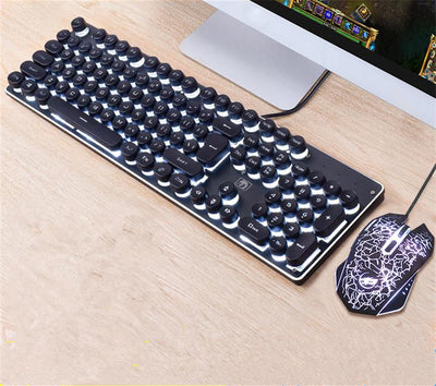 Copy of Computer Gaming Metal Mechanical Shine Keyboard Mouse Set
