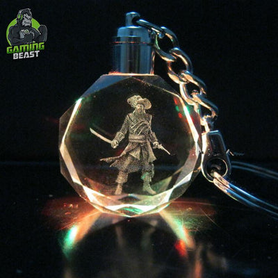 Assassin's Creed Colorful Glowing Crystal Key Ring