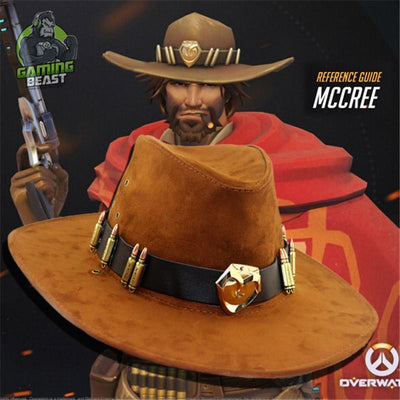 Overwatch McRae Badge Cowboy Knight Hat Cosplay Props