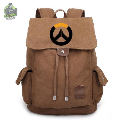 Overwatch Printed Vintage Canvas Backpack