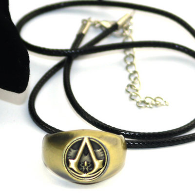 Assassin's Creed Electroplated Alloy Ring Pendant Necklace (19mm In Diameter)