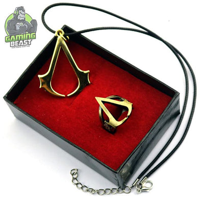Assassin's Creed Origins Brooch Necklace Set