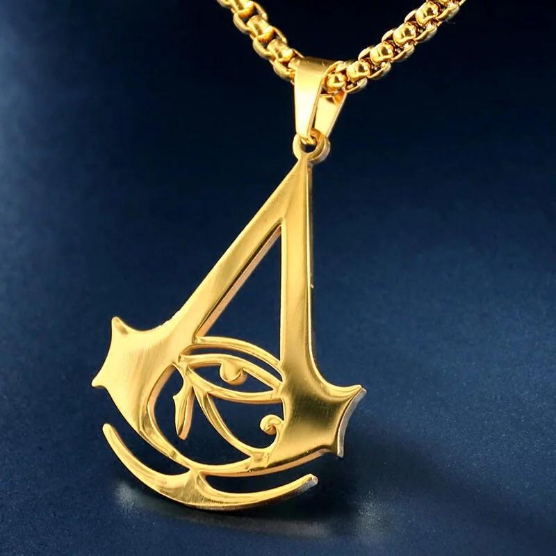 Assassin S Creed Origins Gold Silver Plated Necklace Limited