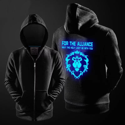 WORLD OF WARCRAFT LUMINOS GLOW AT NIGHT HOODIE - LIMITED EDITION