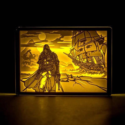 Limited Edition Assassin's Creed Led Wood Picture