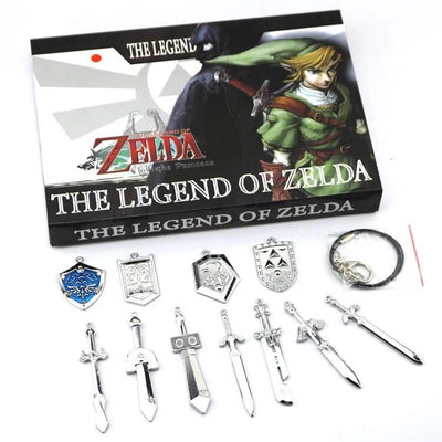 Zelda Sword Necklace Sets