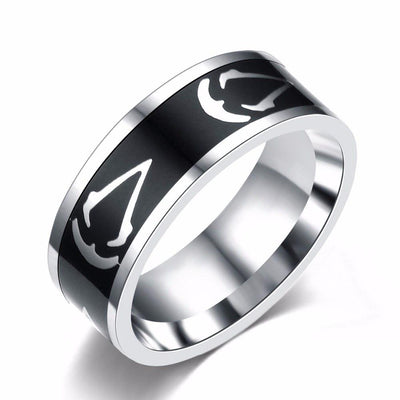 Titanium Steel Assassin's Creed Ring Size 7~13US