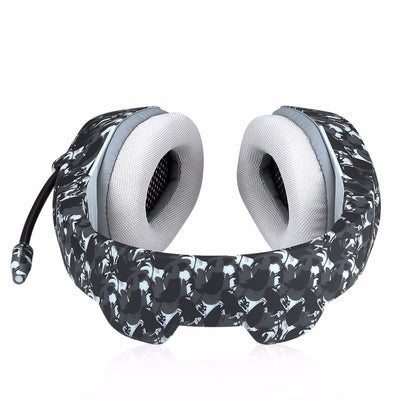 Gaming Beast Camouflage Headset Headphones with Microphone for PC Mobile phones Laptop Gamer