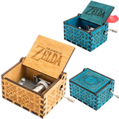 Game The Legend of Zelda Theme Handmade Engraved Wooden Music Box Crafts Cosplay