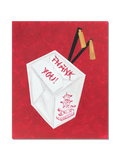 Chinese Take-Out Box Themed Stationery || Asian Inspired Thank You Notes - Old Southern Charm