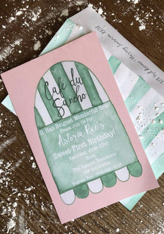 Coffee Café Birthday Party Invitations || New Orleans Inspired Invitations - Old Southern Charm