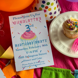 Confetti Cupcake Invitation || Baby Sprinkle Invitation || Children's Birthday Party Invitation's - Old Southern Charm
