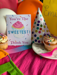 Confetti Cupcake Stationery || Children's Birthday Thank You Notes - Old Southern Charm