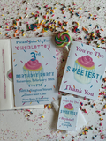 Confetti Cupcake Invitation || Baby Sprinkle Invitation || Children's Birthday Party Invitation - Old Southern Charm