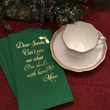 Paper Christmas Napkins with Funny Saying. Bathroom Napkins. Disposable Hand Towels. Holiday Guest Towels. Gift For Mom. Holiday Humor.