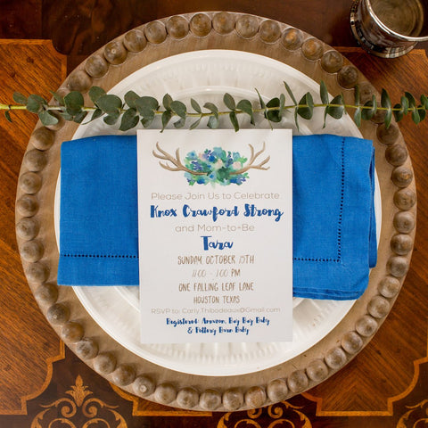 Deer One Woodlands Themed Invitation || Woodlands Inspired Party Invitation - Old Southern Charm