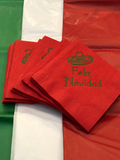 Feliz Navidad Christmas Cocktail Napkins. Napkins with Funny Sayings. Mexican Themed Party Beverage Napkins. Spanish Holiday Gift Idea