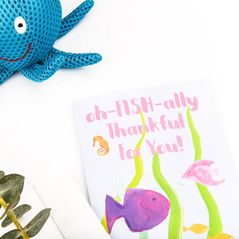 Fish and Friends Stationery || Children's Birthday Thank You Notes - Old Southern Charm