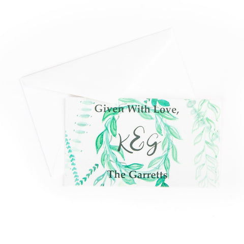 Green Leaf Wreath Gift Tags || Green Leaf Wreath Enclosure Cards || Foliage Theme - Old Southern Charm